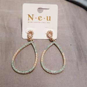 torqois rear droo earrings